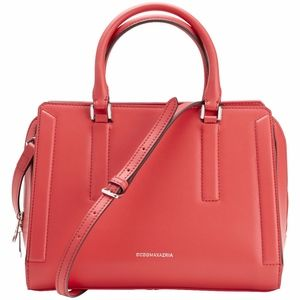 NEW BCBGMAXAZRIA Violet triple entry leather